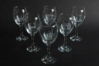 9oz Wine Glasses - Views of City - Set of 6, Blue Casket Box
