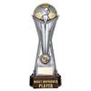 "World Football Most Improved Player Gunmetal & Gold 260mm, IMPORTANT - TWO PART ORDER - 1) Click <a href=""http://graveshamtrophycentre.com/catalogue/1001,0,0-medals-ribbons-boxes"">Here</a> to order a Centre for this product. 2) Return to this tab to order the Product."