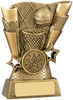4.25 ''  Basketball Scene Award Antique Gold