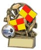 """3.5 ''  XBLAST FOOTBALL LINESMAN ANTIQUE GOLD, IMPORTANT - TWO PART ORDER - 1) Click <a href=""""http://graveshamtrophycentre.com/catalogue/1001,0,0-medals-ribbons-boxes"""">Here</a>to order a Centre for this product. 2) Return to this tab to order the Product."""
