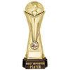 "World Football Most Improved Player Gold 260mm, IMPORTANT - TWO PART ORDER - 1) Click <a href=""http://graveshamtrophycentre.com/catalogue/1001,0,0-medals-ribbons-boxes"">Here</a> to order a Centre for this product. 2) Return to this tab to order the Product."