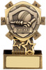 3.75 ''  Mini Shield Cricket Award Antique Gold