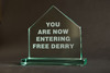 Free Derry Corner - Glass Plaque 3 - Straight Edge - Medium, Blue Casket Box
