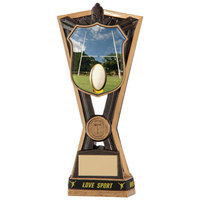 "Titans Rugby Award & TB 240mm, IMPORTANT - TWO PART ORDER - 1) Click <a href=""http://graveshamtrophycentre.com/catalogue/1001,0,0-medals-ribbons-boxes"">Here</a> to order a Centre for this product. 2) Return to this tab to order the Product."