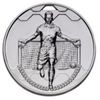 50mm FOOTBALL SCORER MALE MEDAL SILVER