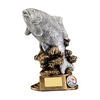 """9"""" Fishing Resin , IMPORTANT - TWO PART ORDER - 1) Click <a href=""""http://graveshamtrophycentre.com/catalogue/1001,0,0-medals-ribbons-boxes"""">Here</a> to order a Centre for this product. 2) Return to this tab to order the Product."""