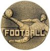 60mm FOOTBALL MALE MEDAL ANTIQUE GOLD