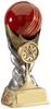 6.25 ''  Cricket Ball Award Antique Gold