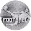 60mm FOOTBALL MALE MEDAL ANTIQUE SILVER