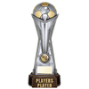 "World Football Players Player Gunmetal & Gold 260mm, IMPORTANT - TWO PART ORDER - 1) Click <a href=""http://graveshamtrophycentre.com/catalogue/1001,0,0-medals-ribbons-boxes"">Here</a> to order a Centre for this product. 2) Return to this tab to order the Product."