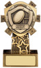4.25'' Mini Shield Rugby Award Antique Gold