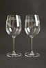 Set of 2 - 'Town I Love So Well' -19oz Wine Glass - , Blue Casket Box