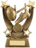 6.25 ''  Trailblazer Rugby Award Antique Gold