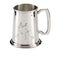 English Pewter Rugby Tankard 125mm 1pt