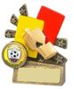 """3.5 ''  XBLAST FOOTBALL REFEREE CARDS AND WHISTLE  ANTIQUE GOLD, IMPORTANT - TWO PART ORDER - 1) Click <a href=""""http://graveshamtrophycentre.com/catalogue/1001,0,0-medals-ribbons-boxes"""">Here</a>to order a Centre for this product. 2) Return to this tab to order the Product."""