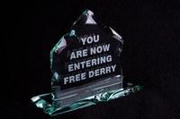 Free Derry Corner - Glass Plaque 1, Blue Casket Box