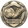 50mm FOOTBALL MINI SHIELD MEDAL BRONZE
