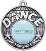 50mm Dance Medal Silver