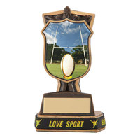 """Titans Rugby Award & TB 135mm, IMPORTANT - TWO PART ORDER - 1) Click <a href=""""http://graveshamtrophycentre.com/catalogue/1001,0,0-medals-ribbons-boxes"""">Here</a> to order a Centre for this product. 2) Return to this tab to order the Product."""