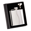 The Grand Flask Polished Steel 6oz 110mm