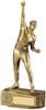 8.75 ''  Cricket Bowler Antique Gold