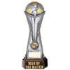 "World Football Man Of The Match Gunmetal & Gold 260mm, IMPORTANT - TWO PART ORDER - 1) Click <a href=""http://graveshamtrophycentre.com/catalogue/1001,0,0-medals-ribbons-boxes"">Here</a> to order a Centre for this product. 2) Return to this tab to order the Product."