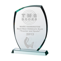"10.5"" Glass Plaque 15mm, Satin Lined Box"