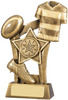 5.5 ''  Rugby Scene Award Antique Gold
