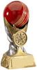 5.5 ''  Cricket Ball Award Antique Gold