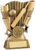 5 ''  Cricket Scene Award Antique Gold