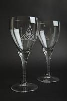 Trinity - 11oz Wine Glass, Blue Casket Box