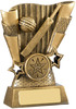 4.5 ''  Cricket Scene Award Antique Gold