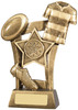 6.5 ''  Rugby Scene Award Antique Gold