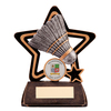 """Little Star Badminton Award 105mm, IMPORTANT - TWO PART ORDER - 1) Click <a href=""""http://graveshamtrophycentre.com/catalogue/1001,0,0-medals-ribbons-boxes"""">Here</a> to order a Centre for this product. 2) Return to this tab to order the Product."""