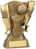 5 ''  Basketball Scene Award Antique Gold