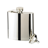 6oz Stainless Steel Flask & Funnel, Gift Boxed