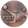 60mm FOOTBALL MALE MEDAL ANTIQUE BRONZE