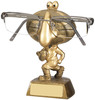 5.25 ''  Rugby Specs Holder Antique Gold