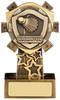 4.25'' Mini Shield Badminton Award Antique Gold