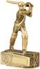 7.5 ''  Cricket Batsman Antique Gold