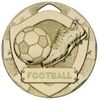 50mm FOOTBALL MINI SHIELD MEDAL GOLD