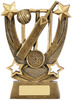 6.25 ''  Trailblazer Cricket Award Antique Gold
