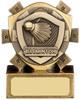 3'' Mini Shield Badminton Award Antique Gold